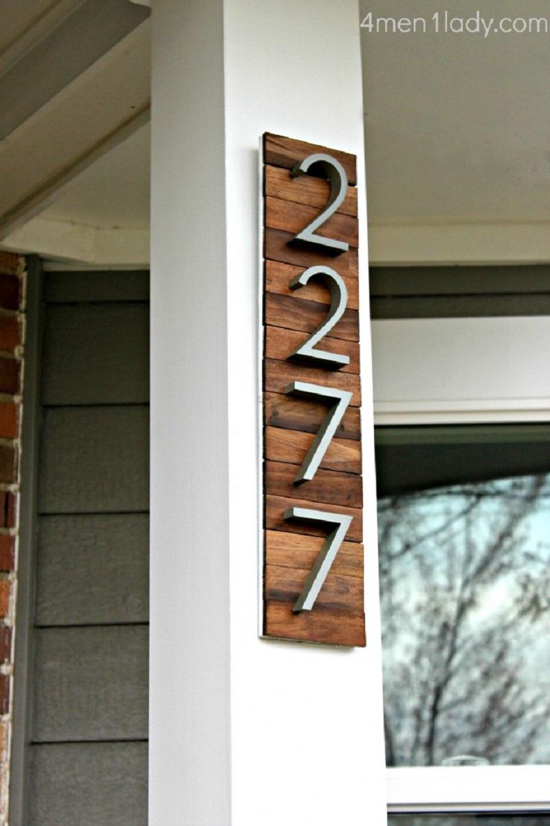 Diy house number 7