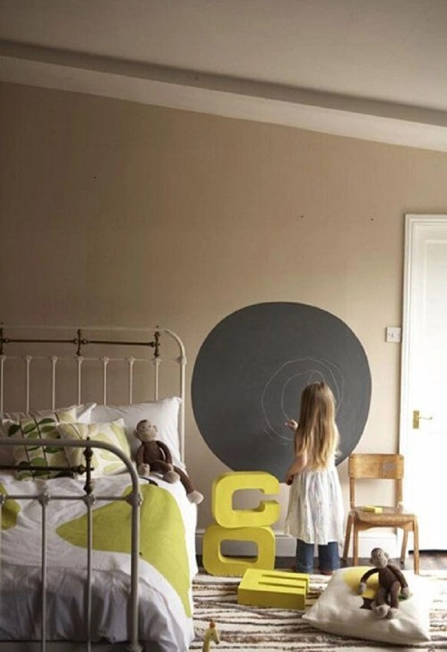 Chalkboard paint in kids room
