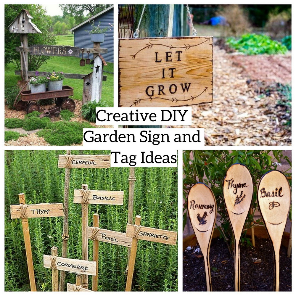 Creative Diy Garden Sign And Tag Ideas Godiygo Com