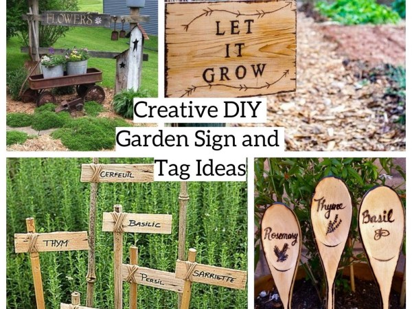 Creative Diy Garden Sign And Tag Ideas Archives Godiygo Com
