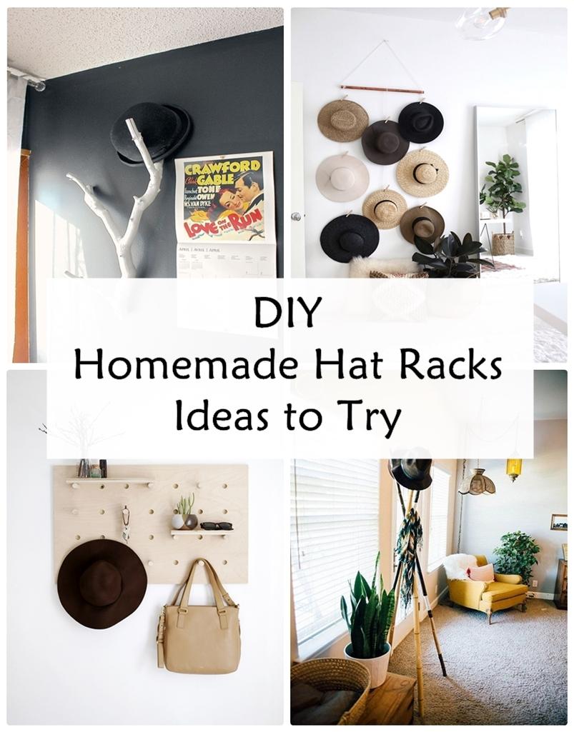 DIY Homemade Hat Racks Ideas to Try - GODIYGO.COM