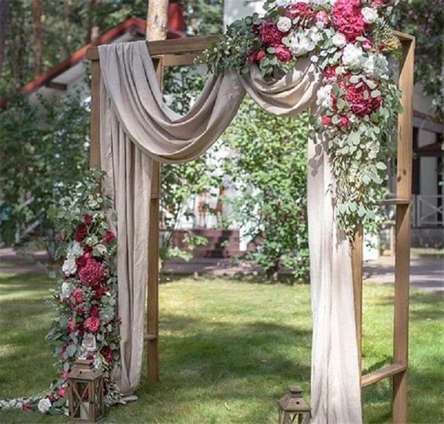 Beautiful wedding ceremony backdrop arbor