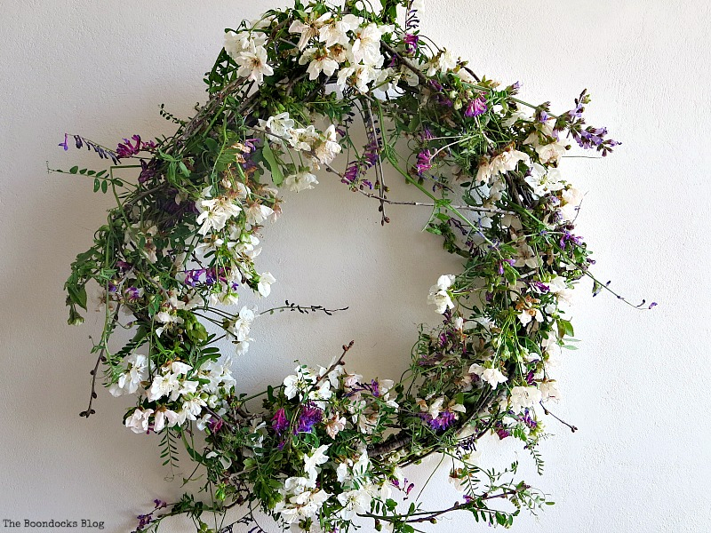 Celebrating may day wreath