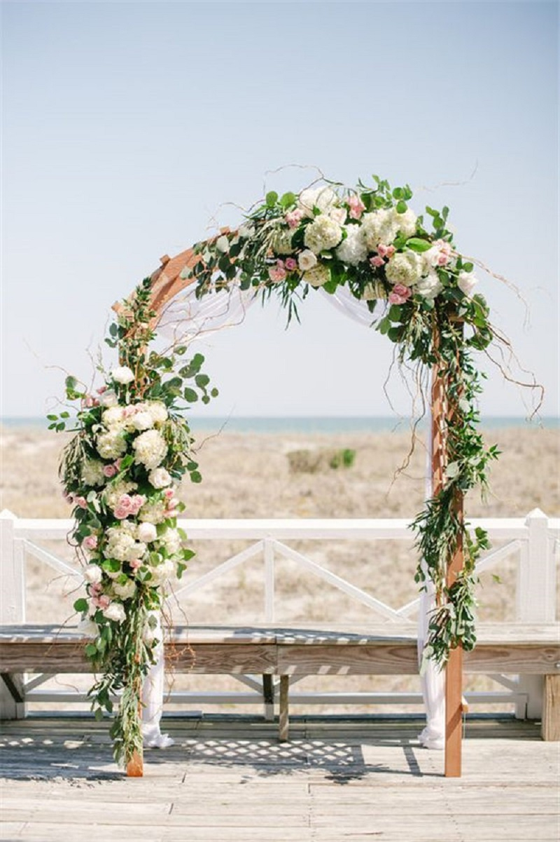 Gorgeous floral ceremony arch