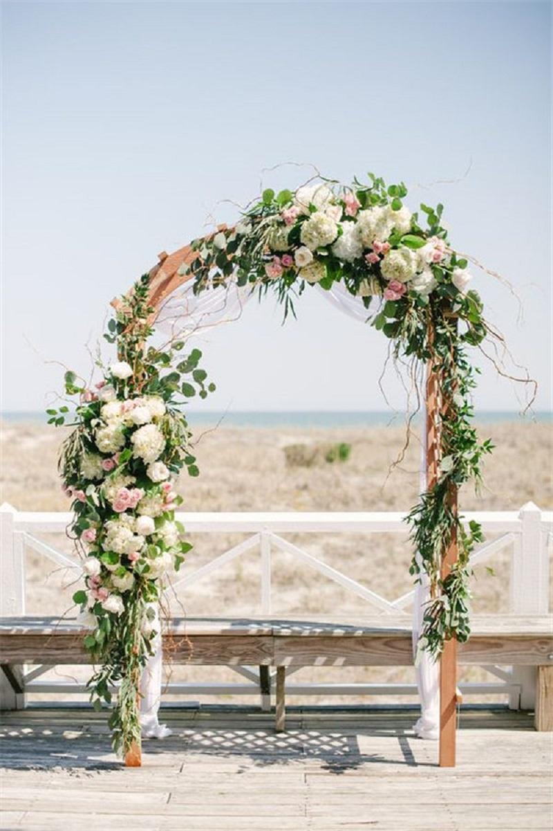 Gorgeous floral ceremony arch