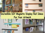 Incredible diy magnetic display rail ideas for your artwork