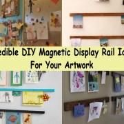 Incredible diy magnetic display rail ideas for your artwork