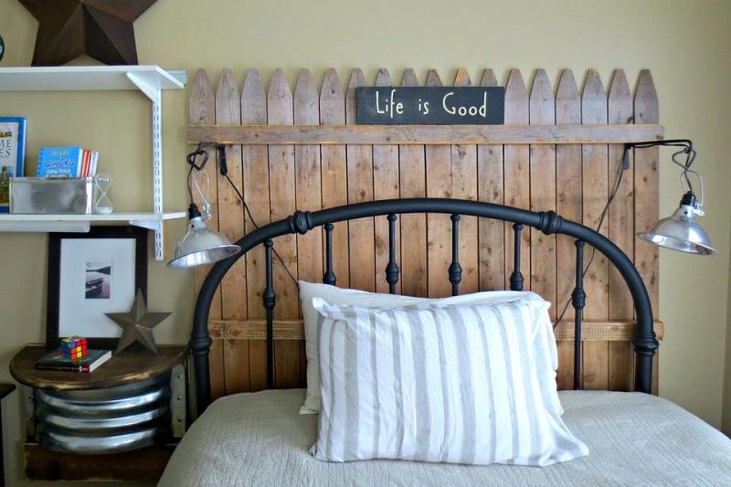 Picket fence headboard