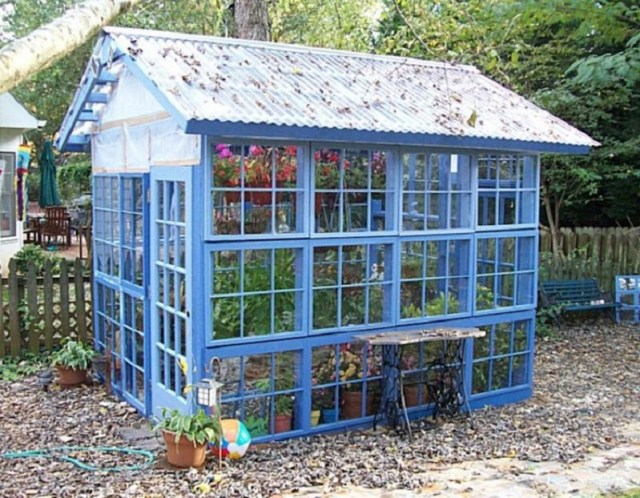 Scrap-window-greenhouse
