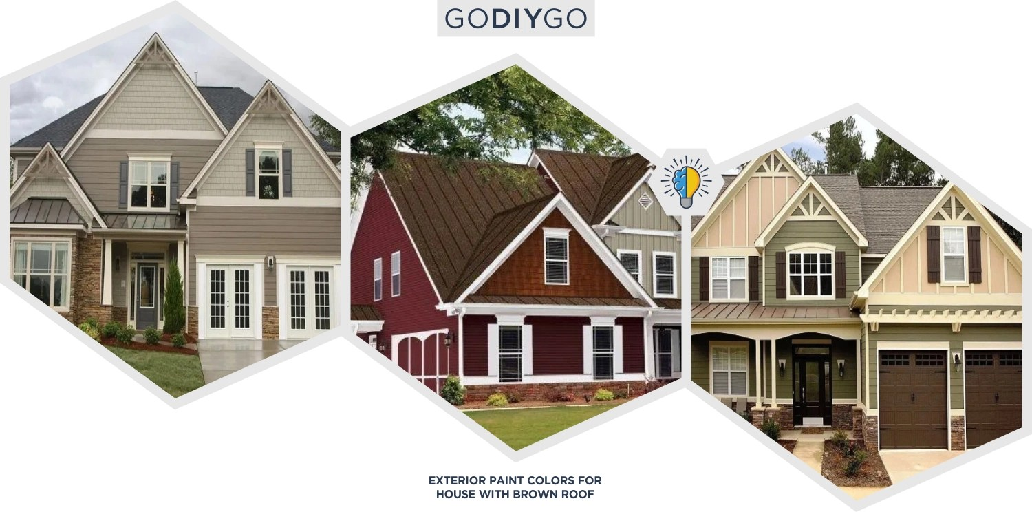 53 Exterior Paint Colors For House With Brown Roof Godiygo Com