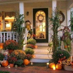 Awesome farmhouse fall decor porches 07