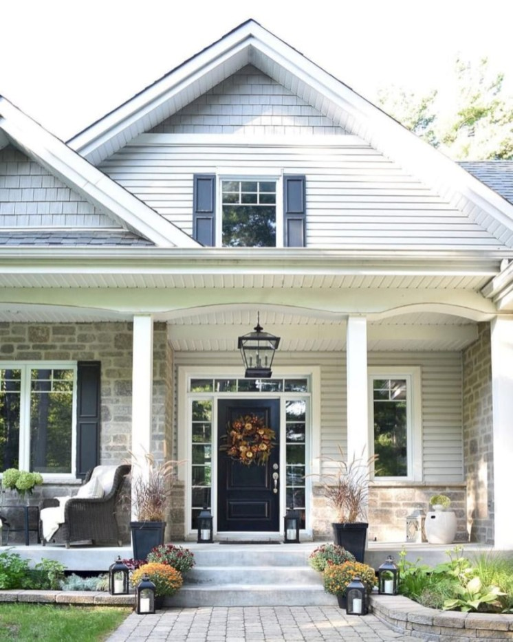Awesome farmhouse fall decor porches 31