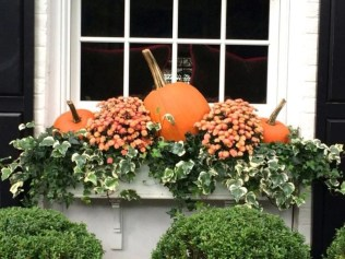 Cheap and easy fall window boxes ideas 14