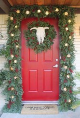 Cute farmhouse christmas decoration ideas 42