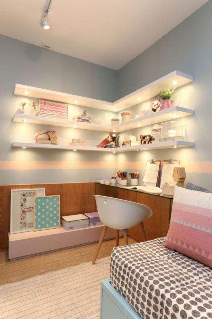 Easy and cute teen room decor ideas for girl 18