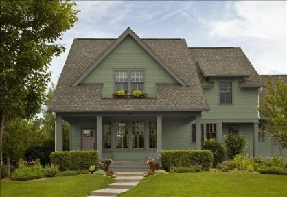 Exterior paint colors for house with brown roof 49