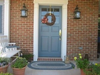 Exterior paint colors with red brick 13