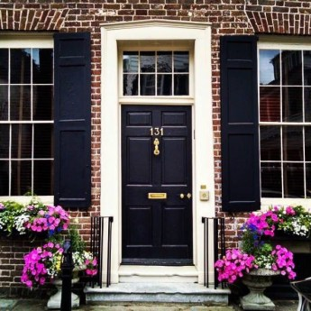 Exterior paint colors with red brick 19