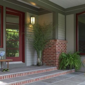 Exterior paint colors with red brick 42