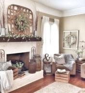 Incredible european farmhouse living room design ideas 39