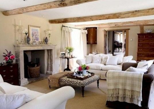 Incredible european farmhouse living room design ideas 55