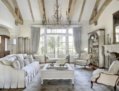 Incredible european farmhouse living room design ideas 56