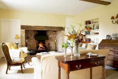 Incredible european farmhouse living room design ideas 64