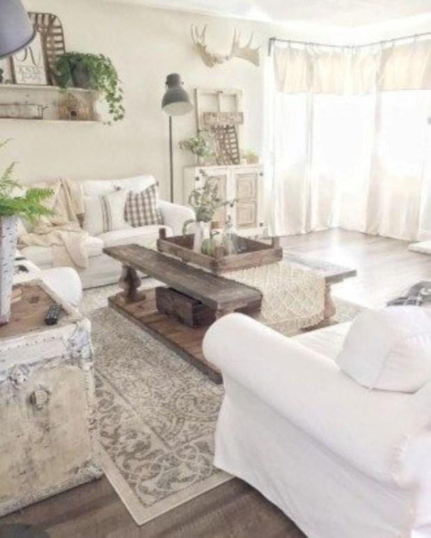 Incredible european farmhouse living room design ideas 83