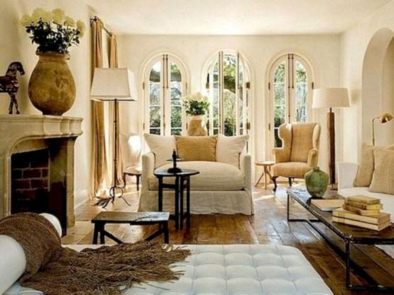 Incredible european farmhouse living room design ideas 84
