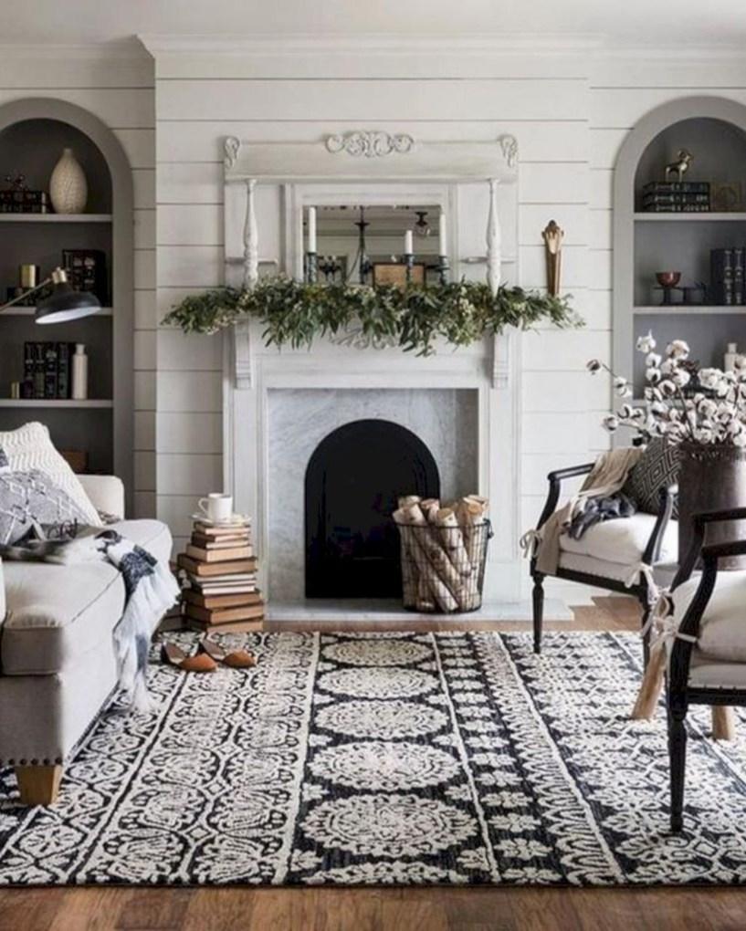 Incredible european farmhouse living room design ideas 95