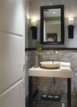 Incredible half bathroom decor ideas 40