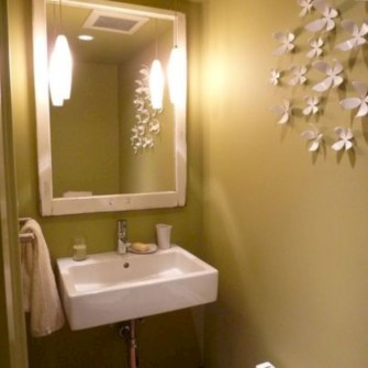 Incredible half bathroom decor ideas 85