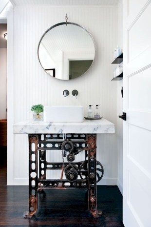 Incredible half bathroom decor ideas 94
