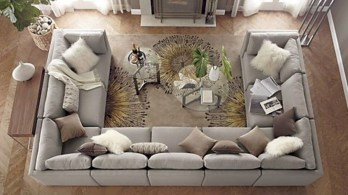 Inspiring living room layouts ideas with sectional 89