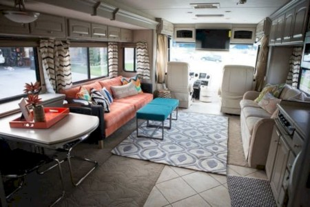 Rv living decor to make road trip so awesome 09