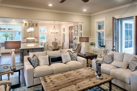 Rustic farmhouse living room decor ideas 13