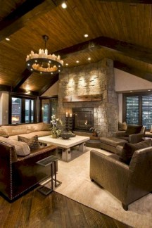 Rustic farmhouse living room decor ideas 23
