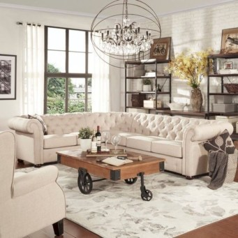Rustic farmhouse living room decor ideas 24