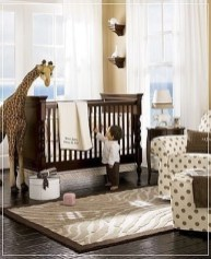 Unique baby boy nursery room with animal design 12