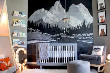 Unique baby boy nursery room with animal design 21