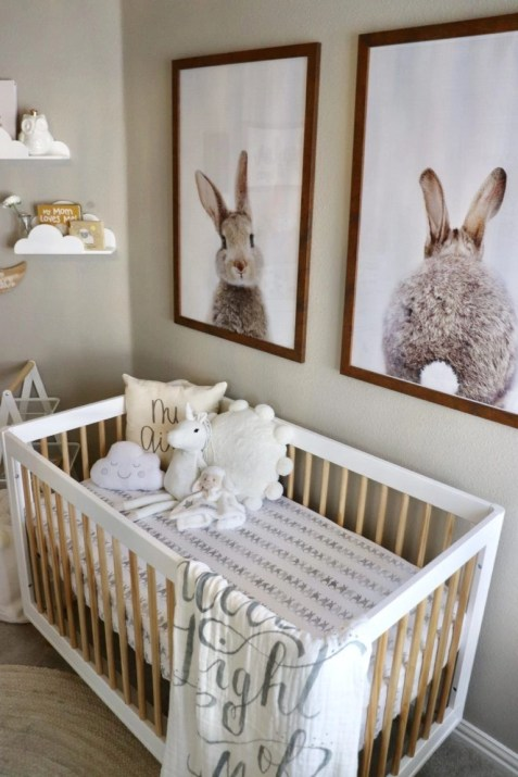 Unique baby boy nursery room with animal design 23