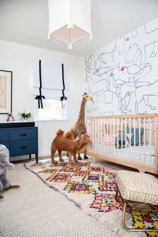 Unique baby boy nursery room with animal design 37