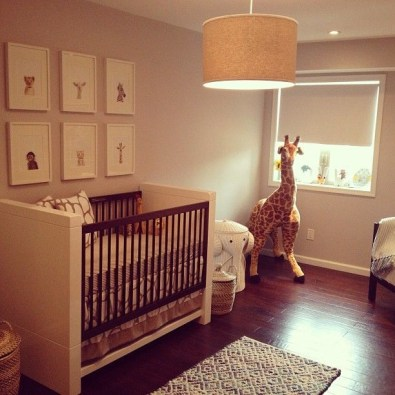 Unique baby boy nursery room with animal design 45