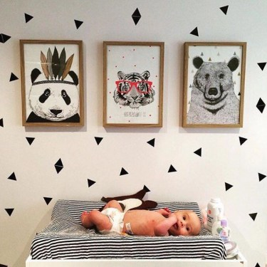 Unique baby boy nursery room with animal design 46