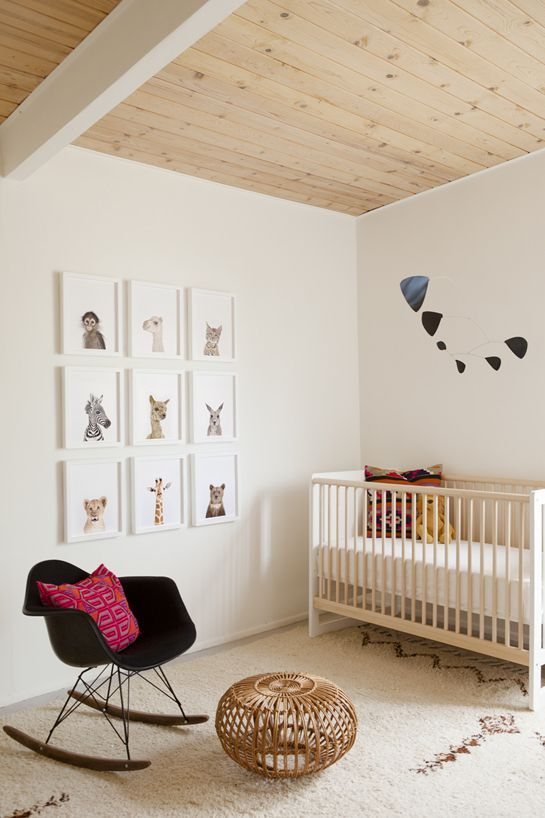 Unique baby boy nursery room with animal design 48