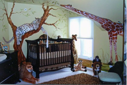 Unique baby boy nursery room with animal design 50