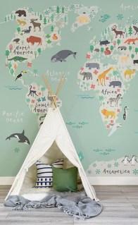 Unique baby boy nursery room with animal design 53