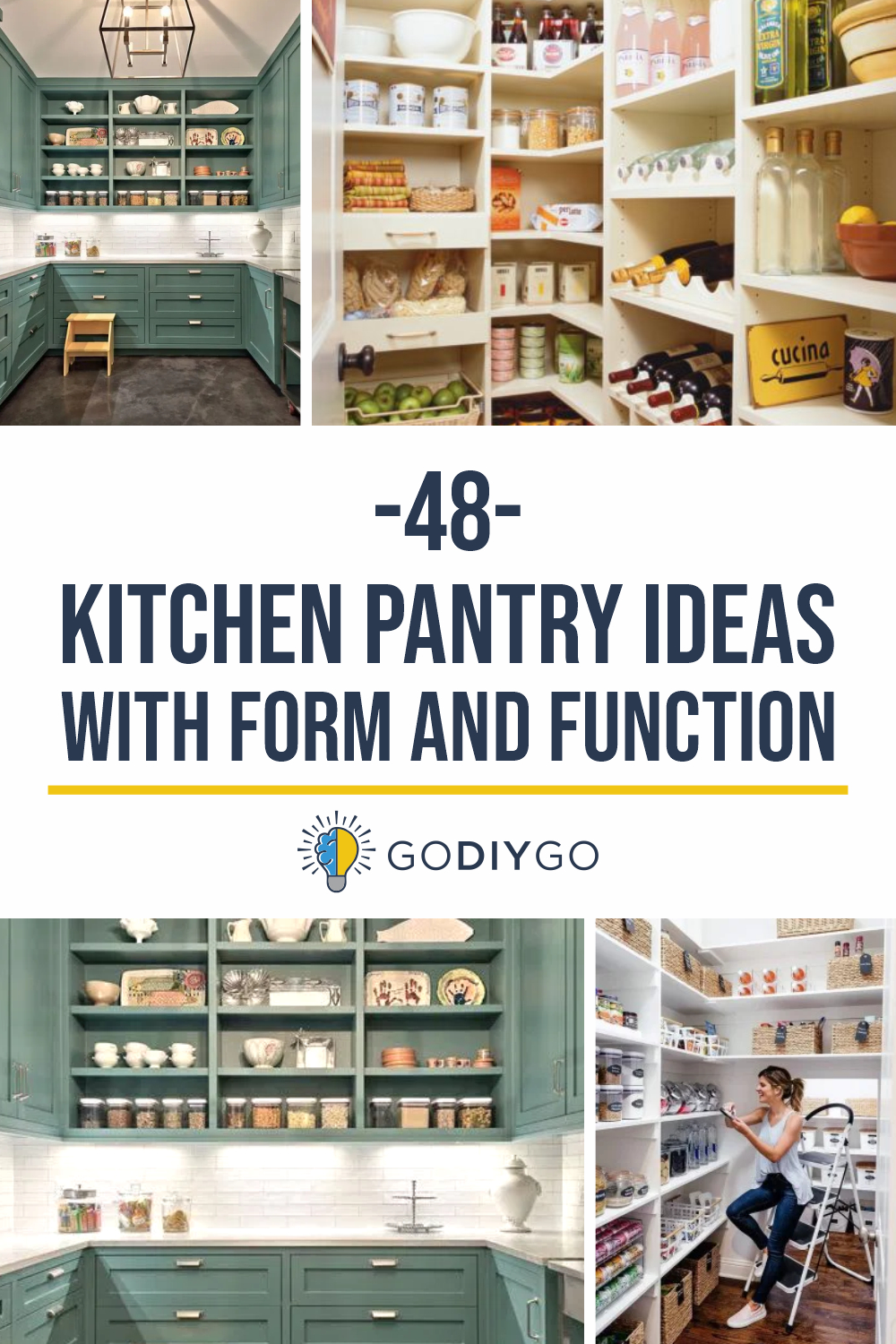48 Kitchen Pantry Ideas With Form And Function Godiygo Com