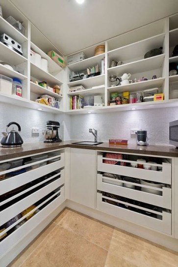 Kitchen pantry ideas with form and function 48