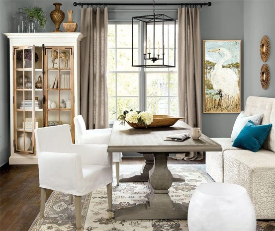 Stunning ways to re-decorate your dining room 34